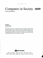 Annual Editions  Computers in Society 08 09 PDF