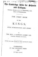 The First Book of Kings PDF