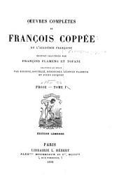 Œuvres complètes de François Coppée: Partie3,Volume1
