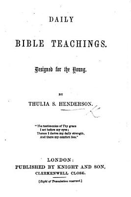 Daily Bible Teachings  Designed for the Young PDF