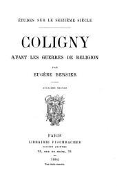 Coligny avant les guerres de religion