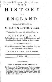 The History of England: Volume 11