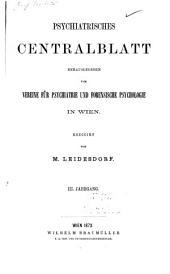 Psychiatrisches centralblatt: Bände 3-4