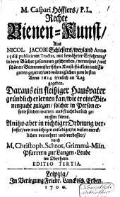 Apiarium Anglicum, oder: der vollkommene Bienen-Meister ...