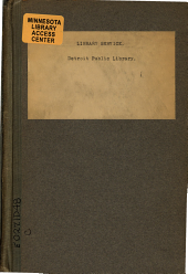 Library Service: Special Number for the Dedication of the New Main Building, June 3, 1921