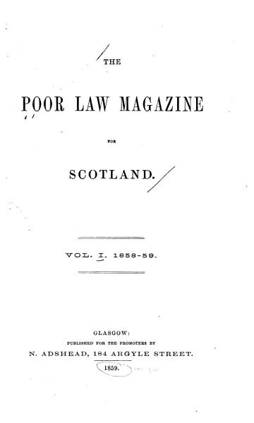 The Poor Law Magazine for Scotland PDF