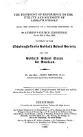 The Testimony of Experience to the Utility and Necessity of Sabbath Schools  Being the Substance of a Discourse  Etc PDF