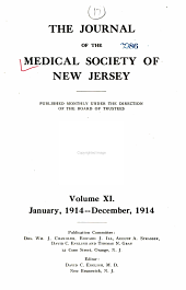 Journal of the Medical Society of New Jersey: Volume 11