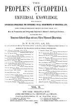 People's Cyclopaedia of Universal Knowledge