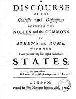 A Discourse of the Contests and Dissensions Between the Nobles and the Commons in Athens and Rome PDF