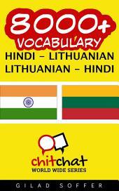8000+ Hindi - Lithuanian Lithuanian - Hindi Vocabulary