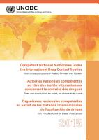 Competent National Authorities under the International Drug Control Treaties 2015 PDF