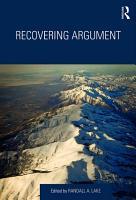 Recovering Argument PDF