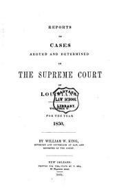 Reports of Cases Argued and Determined in the Supreme Court of Louisiana: Volume 5