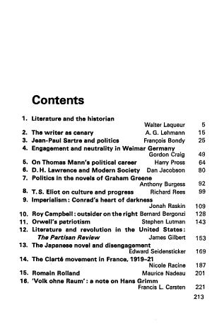 Literature and Politics in the Twentieth Century