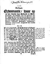 Bestiaal. Ordonnantie, waar op in [...] Holland en Westvriesland [...] by collecte sal werden geheeven den impost op de bestiaalen [...]: ingaande den eersten ianuary 1750