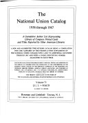 National Union Catalog PDF
