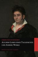 Aus dem Leben eines Taugenichts und Andere Werke  Graphyco Deutsche Klassiker  PDF