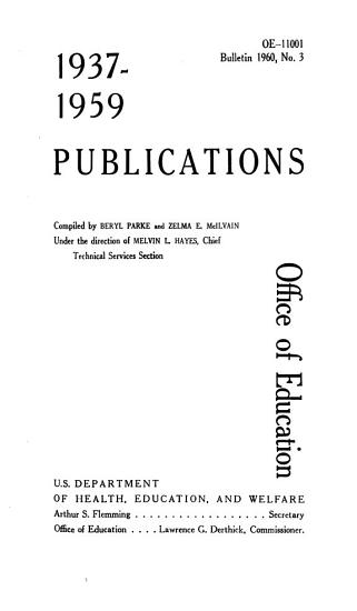 Publications of the U S  Office of Education PDF