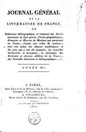 Journal général de la littérature de France: Volume 14