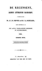 De recensent: algemeen letterlievend maandschrift, Volume 7