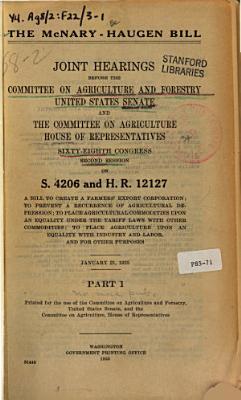 The Mcnary Haugen Bill