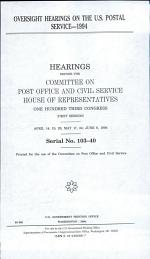 Oversight Hearings on the U.S. Postal Service--1994
