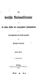 Die deutsche Nationalliteratur in der ersten Hälfte des neunzehnten Jahrhunderts: Band 2
