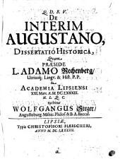 De interim Augustano, dissertatio historica