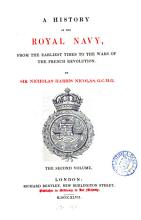 A history of the Royal navy  from the earliest times to the wars of the French revolution PDF
