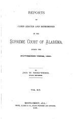 Reports of Cases Argued and Determined in the Supreme Court of Alabama