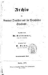 Archiv für gemeines deutsches und für preußisches Strafrecht: Band 5