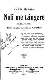 Noli me tángere: novela tagala