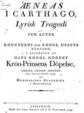 Aeneas i Carthago: Lyrisk Tragedi i fem actor