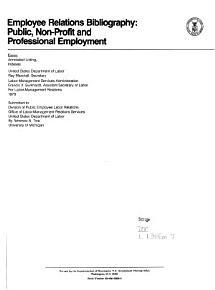Employee Relations Bibliography PDF