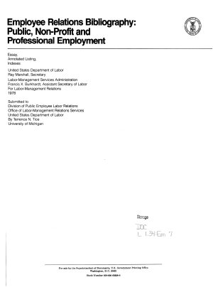 Employee Relations Bibliography PDF