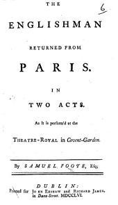 The Englishman Returned from Paris, Etc