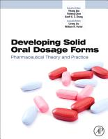 Developing Solid Oral Dosage Forms PDF