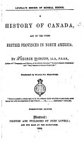 A History of Canada  and of the Other British Provinces in North America PDF