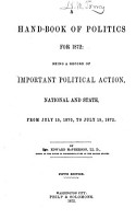A Handbook of Politics for 1872 PDF