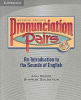 Pronunciation Pairs Student s Book with Audio CD PDF