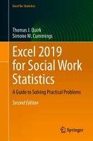 Excel 2019 for Social Work Statistics PDF