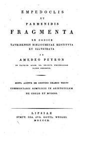 Empedoclis et Parmenidis fragmenta