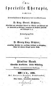 Die specielle Therapie: Chronische Krankheiten ; 3. Abtheilung, Band 5
