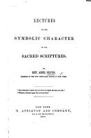 Lectures on the Symbolic Character of the Sacred Scriptures PDF