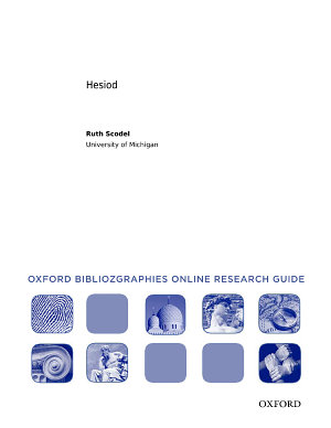Hesiod  Oxford Bibliographies Online Research Guide PDF