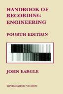 Handbook of Recording Engineering