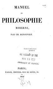 Manuel de philosophie moderne