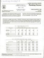 Current Industrial Reports: Plumbing fixtures. MQ-34E