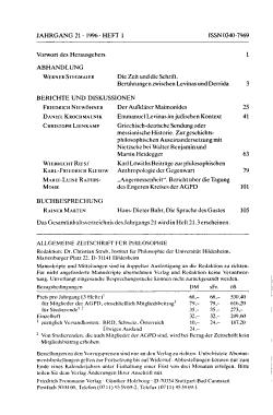 Allgemeine Zeitschrift f  r Philosophie PDF